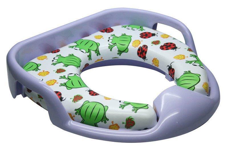 Sapho wc sedátko dětské soft s podpěrou fialová
