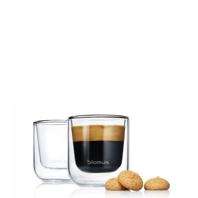 BLOMUS Nero set 2 termosklenic na espresso 80ml