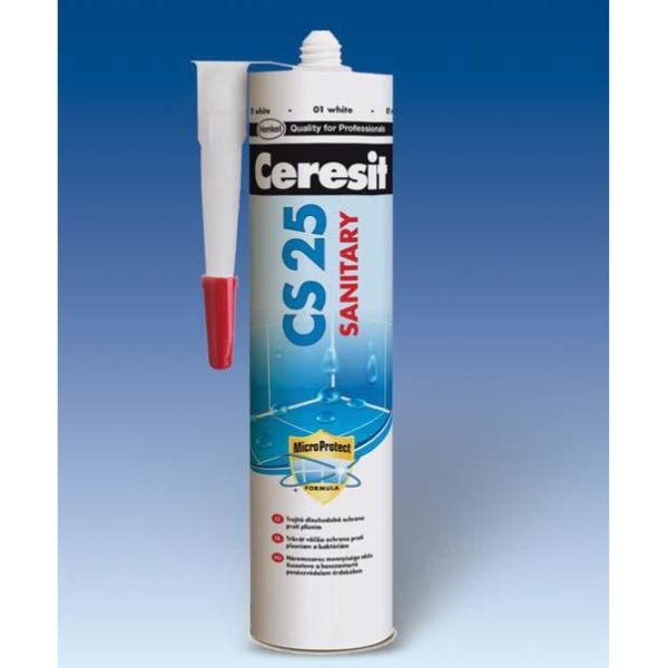 CERESIT CS25 silikon sanitární 280 ml chocolate